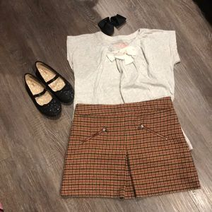 Zara Girls plaid skirt